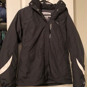 EUC black Columbia winter jacket